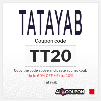 Tatayab offers up to 60% + 10% Tatayab discount codes