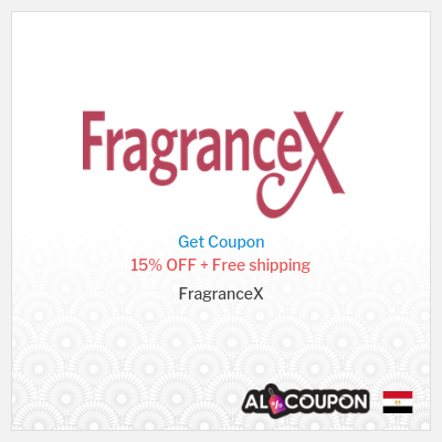 FragranceX coupon code Egypt | 15% on all products