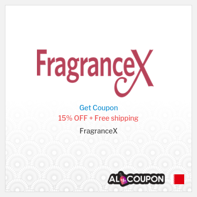 FragranceX coupon code Bahrain   15% on all products