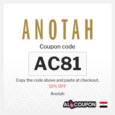 Anotah coupon code 2021 | 10% OFF on all products