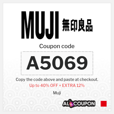 Muji offers up to 40% + 12% Muji discount code Bahrain