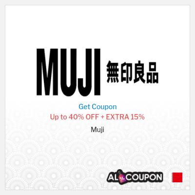 Muji offers up to 40% + Extra Muji discount code Bahrain