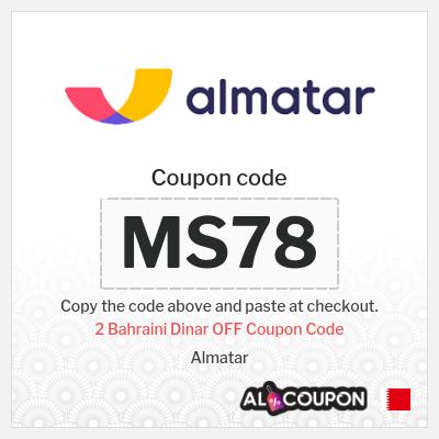 Almatar discount code Bahrain | 2 Bahraini Dinar OFF all bookings