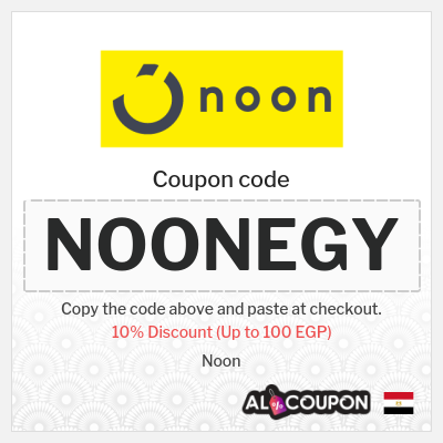 10% Noon Promo Code Egypt 2021 | Up to 100 EGP