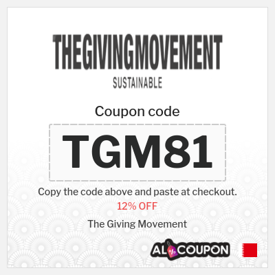 The Giving Movement discount code | 12% OFF on any products