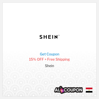Shein Promo Code 15% OFF for Orders 2090 Egyptian pound