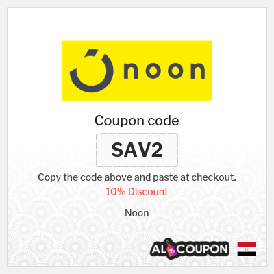 Use Noon Egypt coupon code for 10% off all products