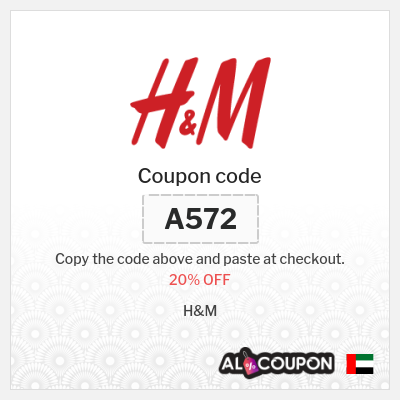 H&M discount code   Get 20% off full priced products