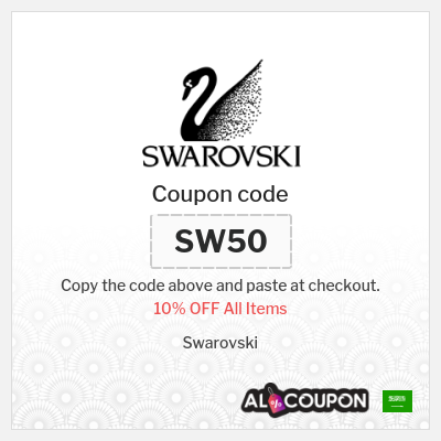 Swarovski 10% discount code on all products