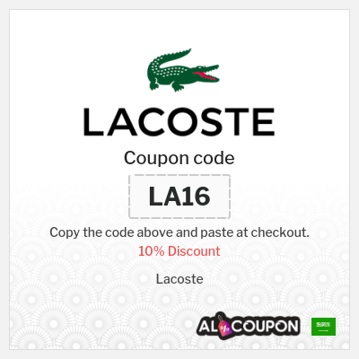 10% Lacoste Promo Code | Reductions on non-discounted products