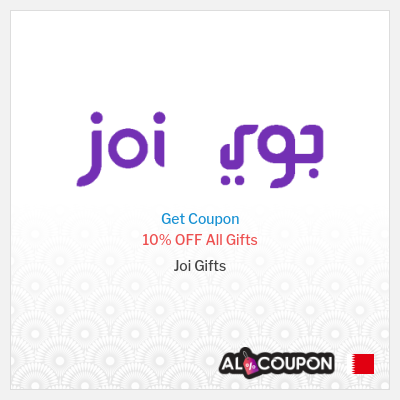 Joi Gifts promo code Bahrain | 10% on all gifts (discounted and non-discounted)