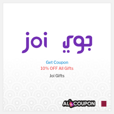 Joi Gifts promo code Qatar | 10% on all gifts (discounted and non-discounted)