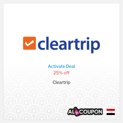 Cleartrip Coupon Codes Egypt | 25% off flight bookings