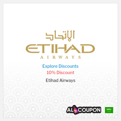 Etihad Airways Promo Code |  10% off Airline Tickets