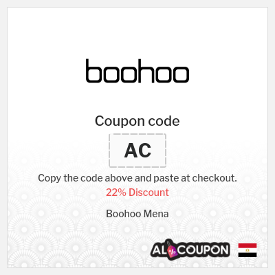 Boohoo Discount Code | 22% off all items from Boohoo Mena