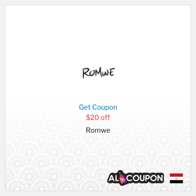 Romwe Coupon Code 2021 | $20 off on orders over $169