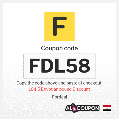 Fordeal Coupon Code 2021 | 104.5 Egyptian pound off all products