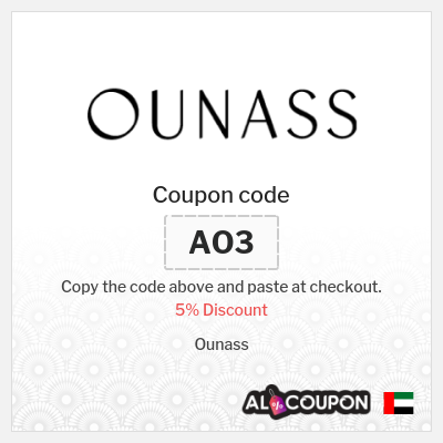 5% Ounass Coupon code   Valid on non-discounted products