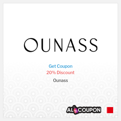 20% Ounass Coupon code   Valid on non-discounted products
