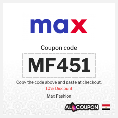10% OFF Max Fashion promo code 2021 | Offers & discounts