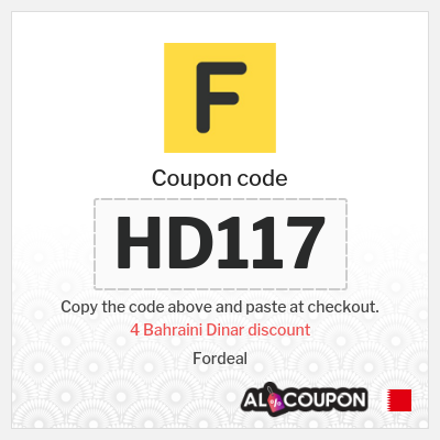 Fordeal coupon code 2021 | Up to 4 Bahraini Dinar OFF