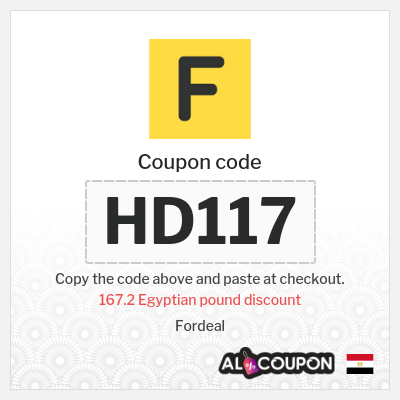 Fordeal coupon code 2021 | Up to 167.2 Egyptian pound OFF