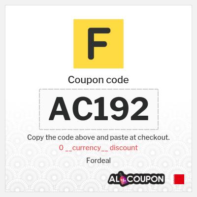 Fordeal discount code   Discount 2 Bahraini Dinar for orders between 20 - 29.9 Bahraini Dinar