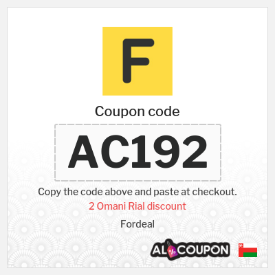 Fordeal discount code | Discount 2 Omani Rial for orders between 20 - 29.9 Omani Rial