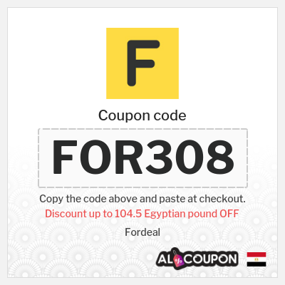 10% OFF Fordeal discount code   Maximum discount 104.5 Egyptian pound
