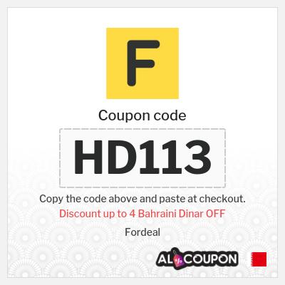 20% OFF Fordeal discount code | Maximum discount 4 Bahraini Dinar