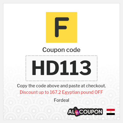 20% OFF Fordeal discount code | Maximum discount 167.2 Egyptian pound
