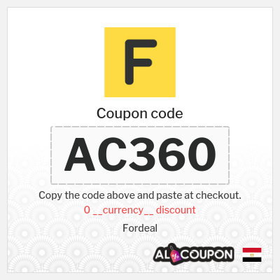 Fordeal coupon | Discount up to 125.4 Egyptian pound