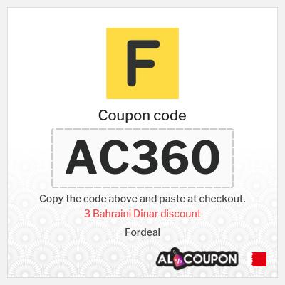 Fordeal coupon | Discount up to 3 Bahraini Dinar