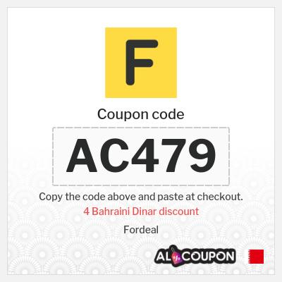 Fordeal promo code | 4 Bahraini Dinar discount