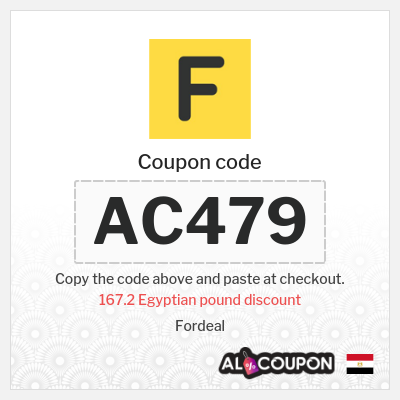 Fordeal promo code   167.2 Egyptian pound discount