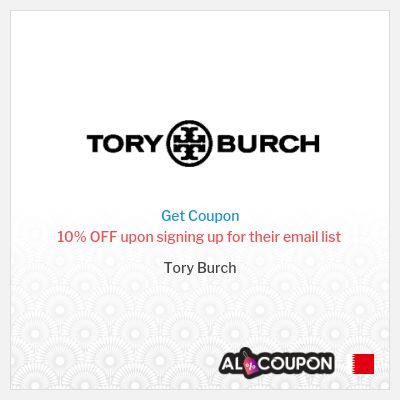 Tory Burch Promo Code | For Bahrain users first order