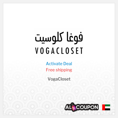 Vogacloset discount code for free shipping | To UAE