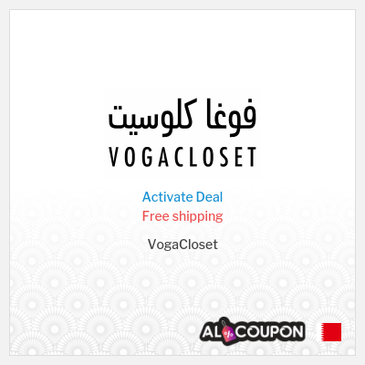 Vogacloset discount code for free shipping | To Bahrain