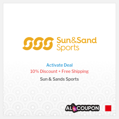 10% OFF Sun & Sands Sports coupon code 2021 + Free Delivery