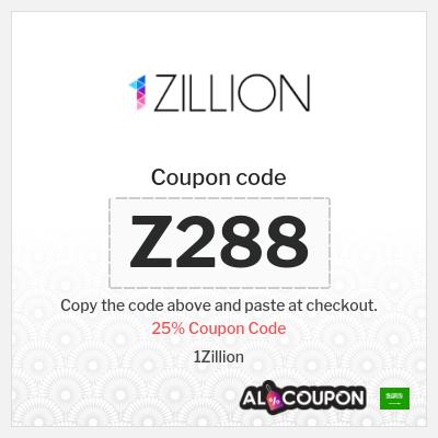 25% 1Zillion discount code 2021   Valid sitewide