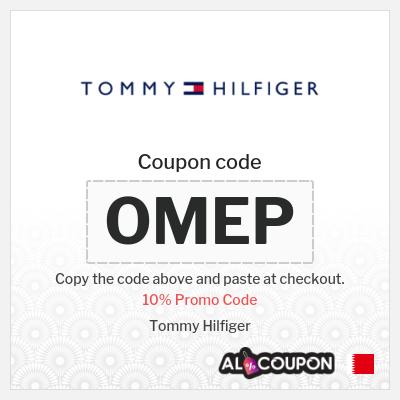 Tommy Hilfiger Sale Bahrain up to 10%   Full-priced items only