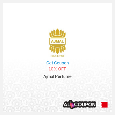 10% Ajmal Perfume discount code Bahrain | New Users only
