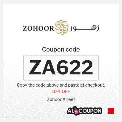 Zohoor Alreef promo code Bahrain | 10% OFF Sitewide