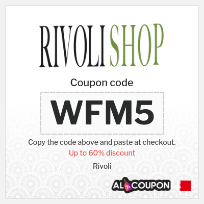 Rivoli online offers up to 60% + 5% Rivoli coupon code 2021