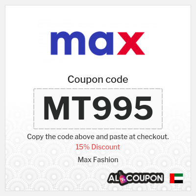 Max UAE Coupons and Promo Codes 2021