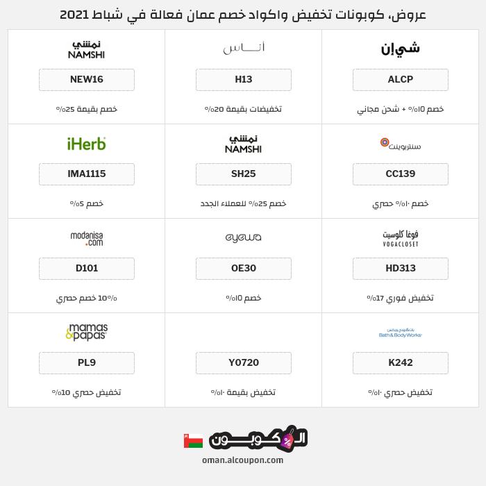 جميع كوبونات وعروض متاجر عمان