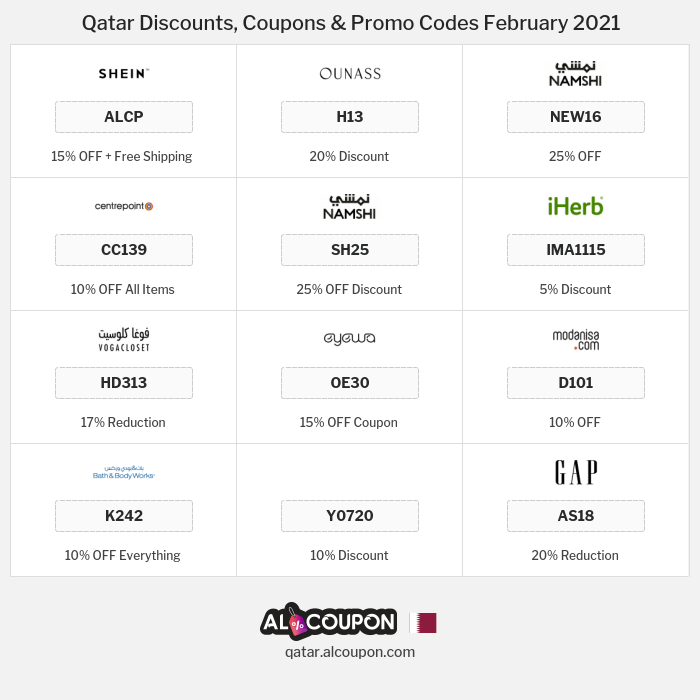 All Coupons and deals for Qatar stores